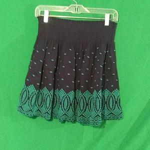 J crew medium embroidered gauze eyelet mini skirt